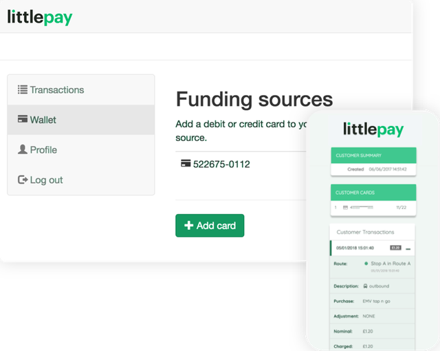 Littlepay Traveller Screenshots